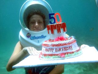 Celebration underwater birthday
