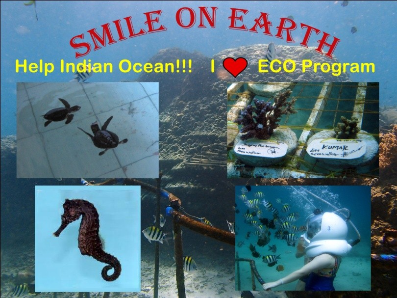 Smile on earth eco program by seawalker bali